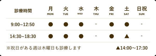 福岡県糸島市 ほりデンタルクリニックの診療時間